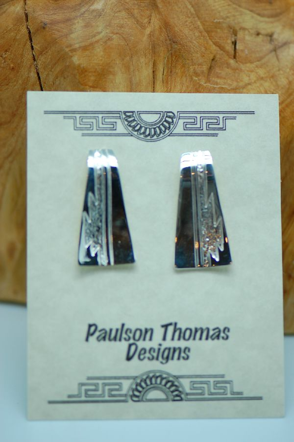 Navajo – Sterling Silver Contemporary Earrings by Paulson Thomas
