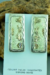 Native American Gold Clip On Earrings Jewelry