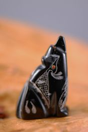 Coyotes, Wolves Fetish Native American Jewelry