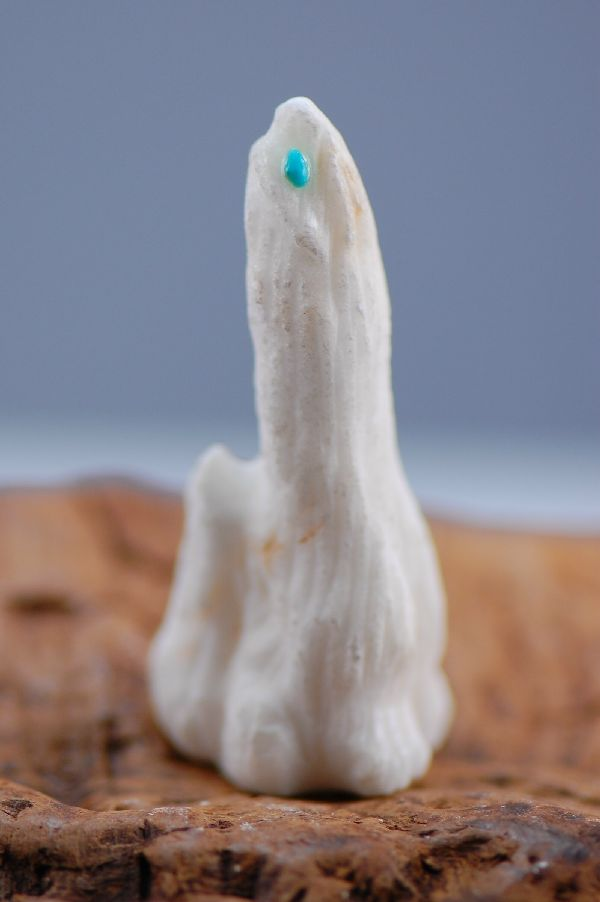 Navajo – Hand Carved Antler Coyote Fetish