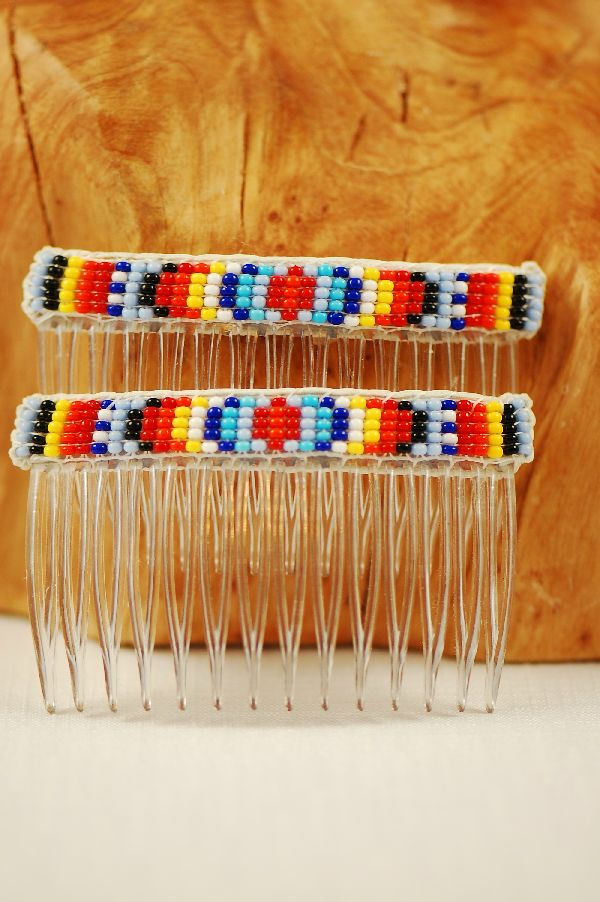 Navajo � Multi-Colored Beaded Hair Combs by Sylvia Spencer