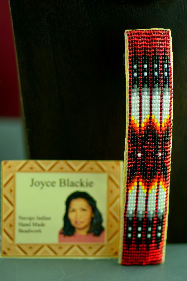 Navajo Multi-Colored Prayer Feather Beaded Hair Piece/Barrette by Joyce Blackie