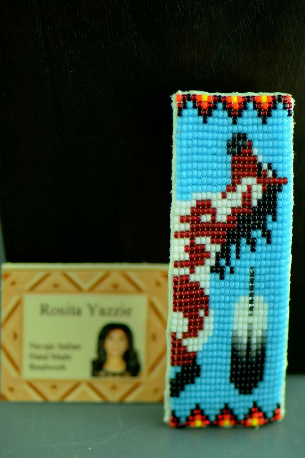 Navajo Multi-Colored Beaded Horse Hair Piece/Barrette by Rosita Yazzie