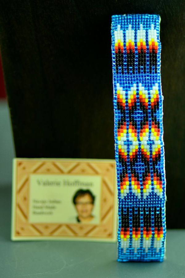 Navajo Prayer Feather Beaded Ponytail Holder/Barrette by Valerie Hoffman