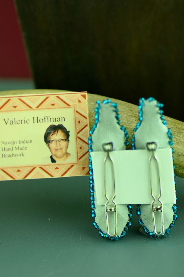 Valerie Hoffman Beaded Prayer Feather Barrettes Navajo