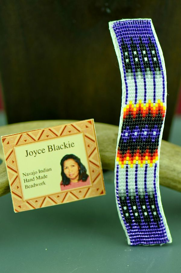 Navajo Multi-Colored Prayer Feather Beaded Barrette by Joyce Blackie