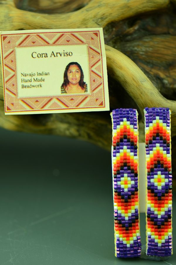 Navajo Beaded Barrettes (Pair) by Cora Arviso
