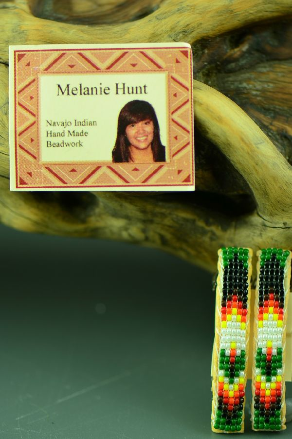 Navajo Beaded Barrettes by Melanie Hunt