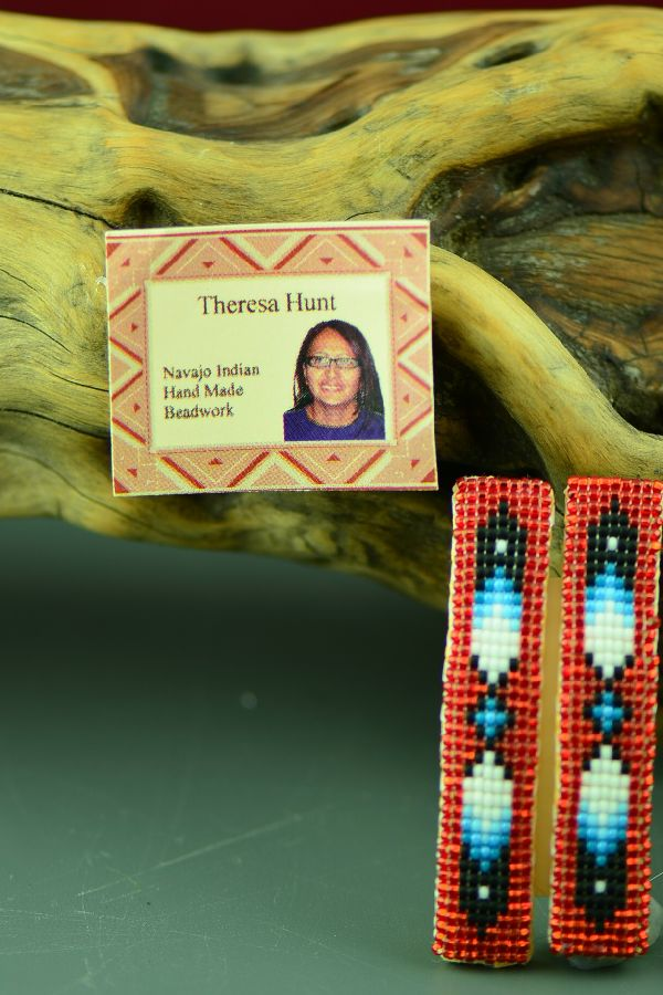 Theresa Hunt Multi-Colored Beaded Prayer Feather Barrettes