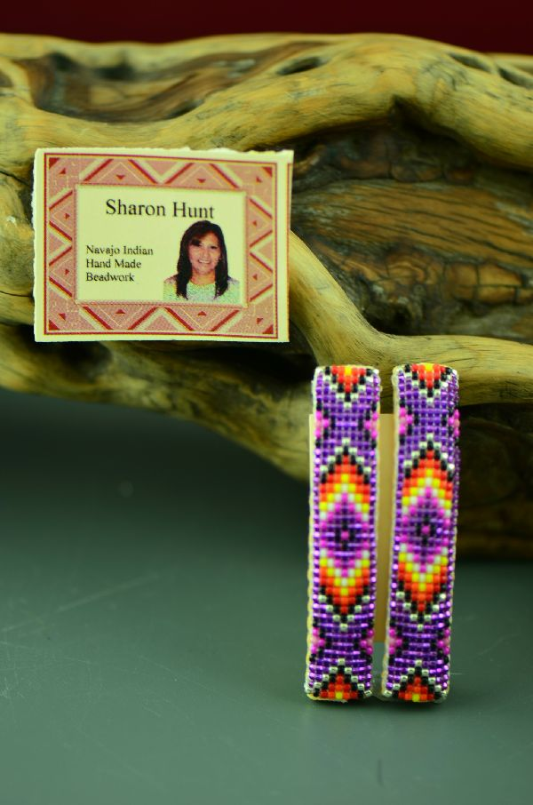 American Indian Beaded Arrow and Medicine Eye Barrettes by Sharon Hunt