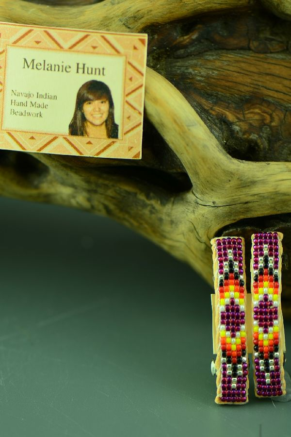 Authentic American Indian Beaded Barrettes by Melanie Hunt