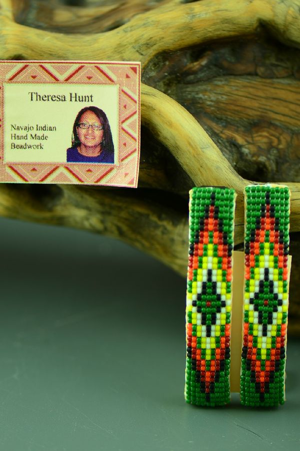 Theresa Hunt Authentic American Indian Beaded Barrettes
