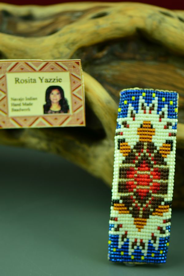 American Indian Navajo Beaded Turtle Barrette by Rosita Yazzie