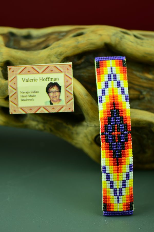 American Indian Beaded Barrette by Valerie Hoffman