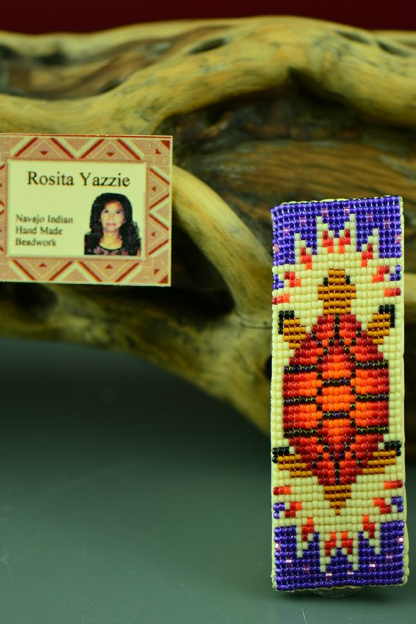 Navajo Beaded Turtle Barrette by Rosita Yazzie