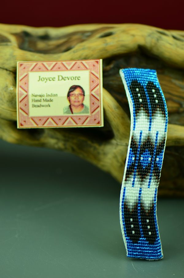 Navajo Prayer Feather Beaded Barrette by Joyce Devore