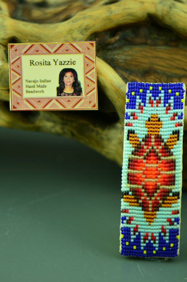 Native American Beaded Turtle Barrette by Rosita Yazzie