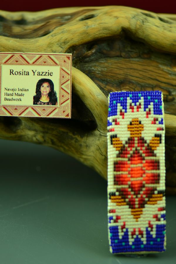 Beaded Native American Turtle Barrette by Rosita Yazzie