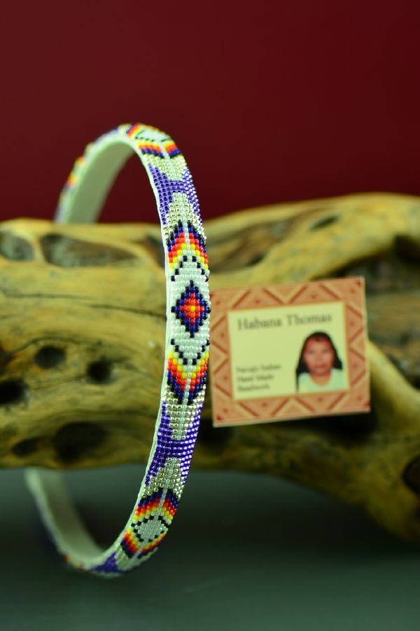 Navajo Multi-Colored Beaded Head Band by Habana Thomas