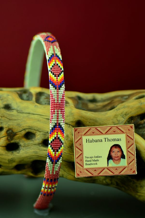 Habana Thomas Navajo Multi-Colored Beaded Head Band
