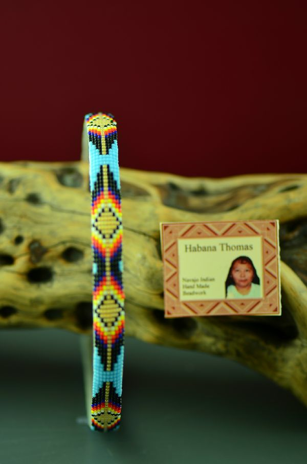 Habana Thomas Navajo Colorful Beaded Head Band