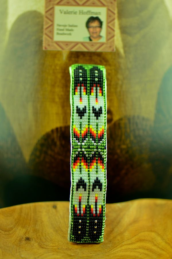 American Indian Beaded Prayer Feather Barrette by Valerie Hoffman