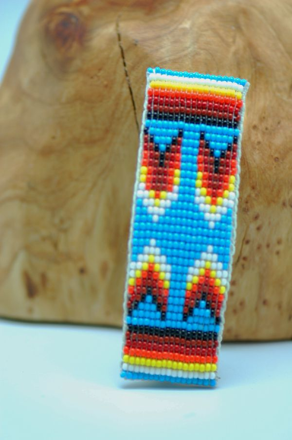 Navajo � Multi-Colored Beaded Hair Piece/Barrette by Sylvia Spencer