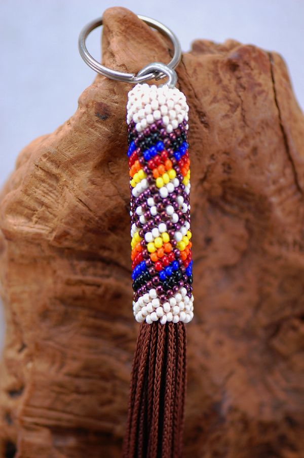 Navajo � Multi-Colored Seed Bead Key Holder/Key Chain