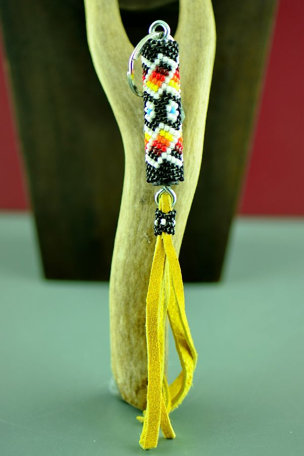 Navajo Multi-Colored Seed Bead Key Holder/Key Chain by Theresa Peters