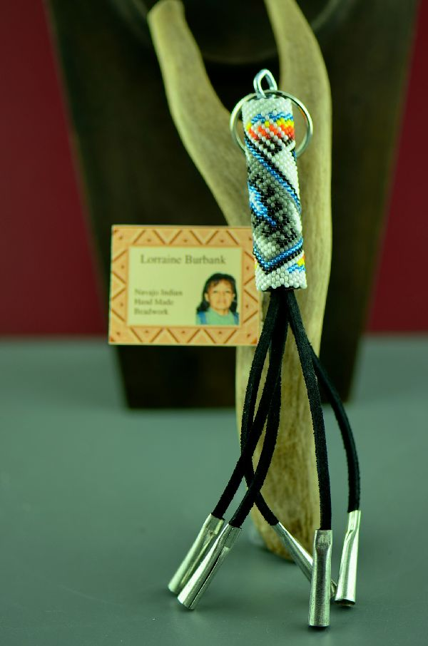 Navajo Beaded Key Holder/Key Chain by Lorraine Burbank