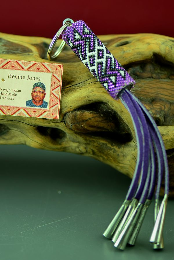 Navajo Beaded Key Chain by Bennie Jones