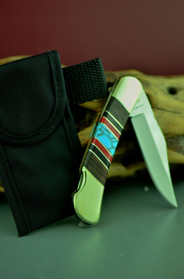 Bash Dani Turquoise Lock Back Knife