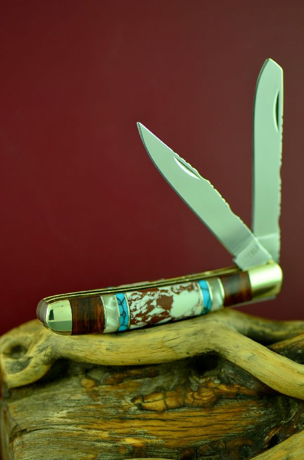 Cherokee Wild Horse 2 Blade Trapper Knife