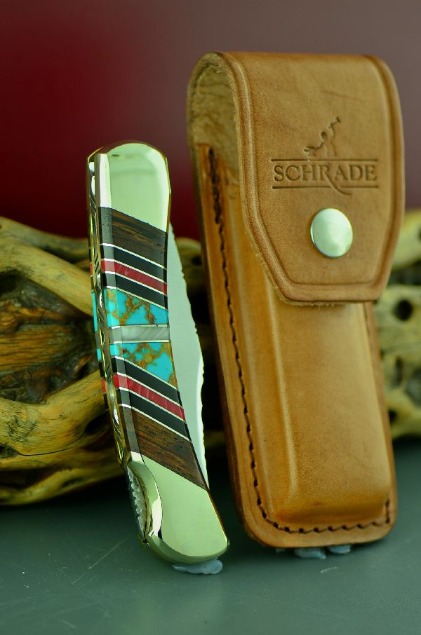 Cherokee Inlaid Schrade Uncle Henry Lock Back Knife