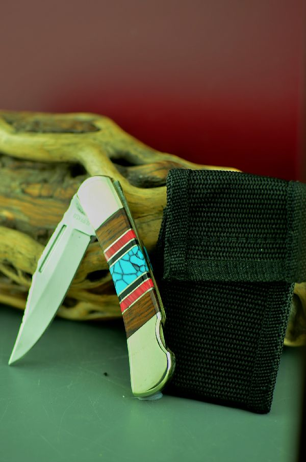 Cherokee Lock Back Turquoise Knive