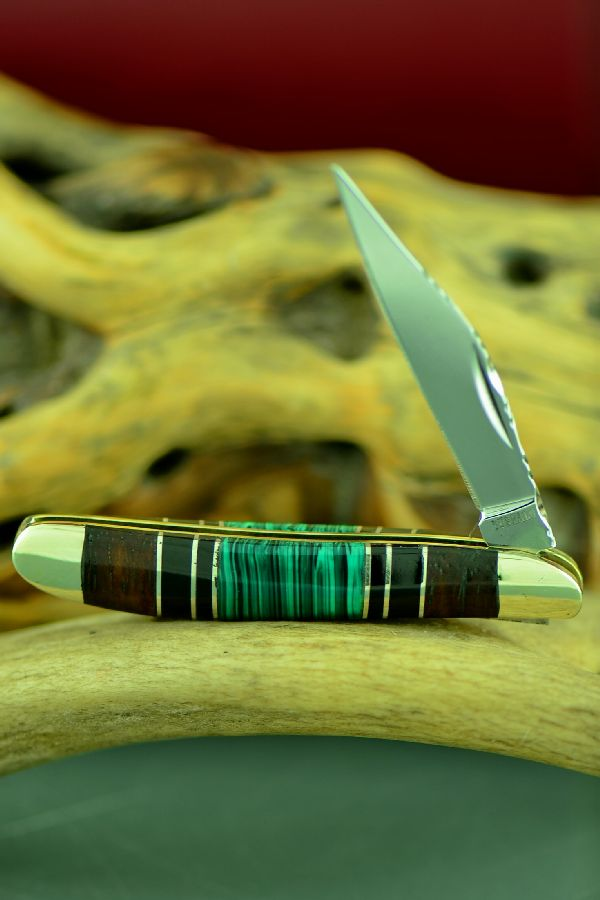 Bash Dani Malachite, Jet and Cocoboa Single Blade Peanut Knife