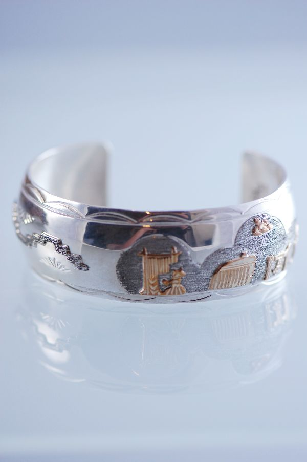 Navajo 12ktGF and Sterling Silver Story Bracelet