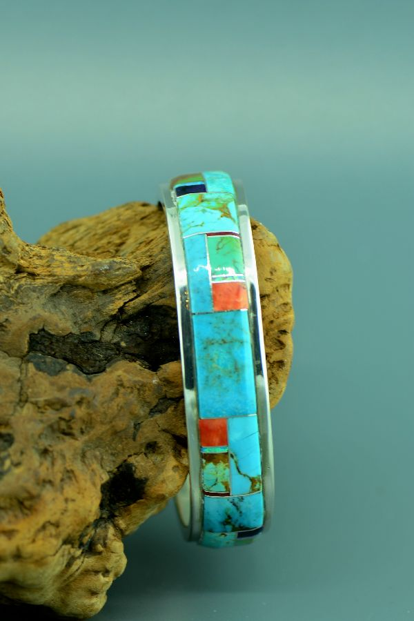 American Indian Inlaid Turquoise Bracelet