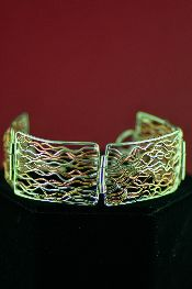Native American Womens Gold Bracelets Jewelry