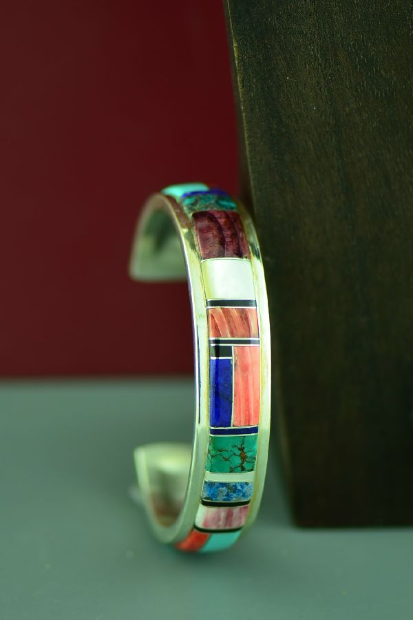 Exquisite Navajo Inlaid Bracelet