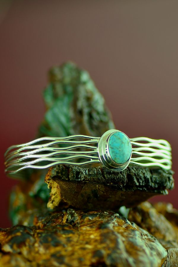Navajo Sunnyside Turquoise Bracelet by Murphy Platero