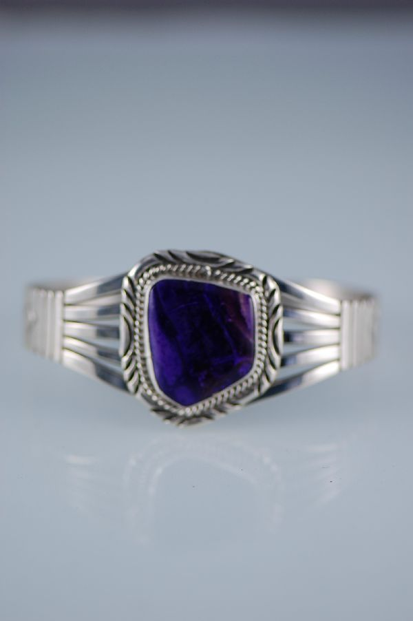 Navajo � Sugilite and Sterling Silver Bracelet by Will Denetdale