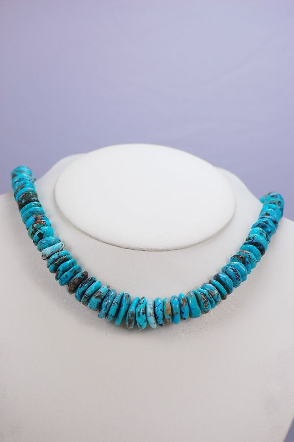 Navajo - Graduated China Mountain Turquoise Necklace