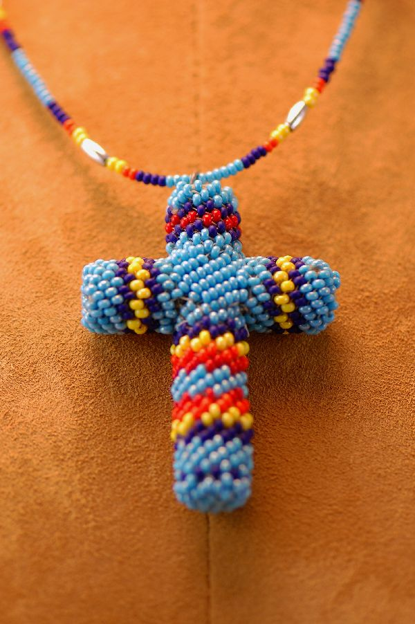 Comanche Beaded Cross Necklace