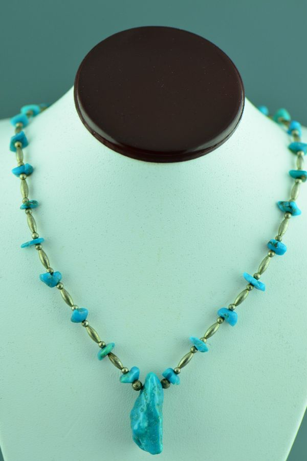 Navajo – Sterling Silver and Turquoise Necklace