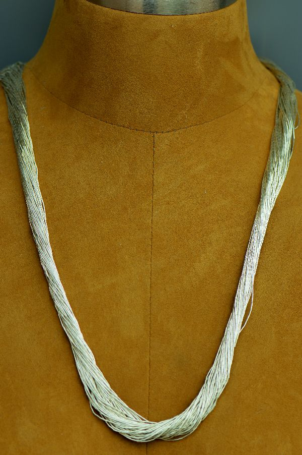 "Navajo – 50 Strand Liquid Sterling Silver Necklace 30"" long"