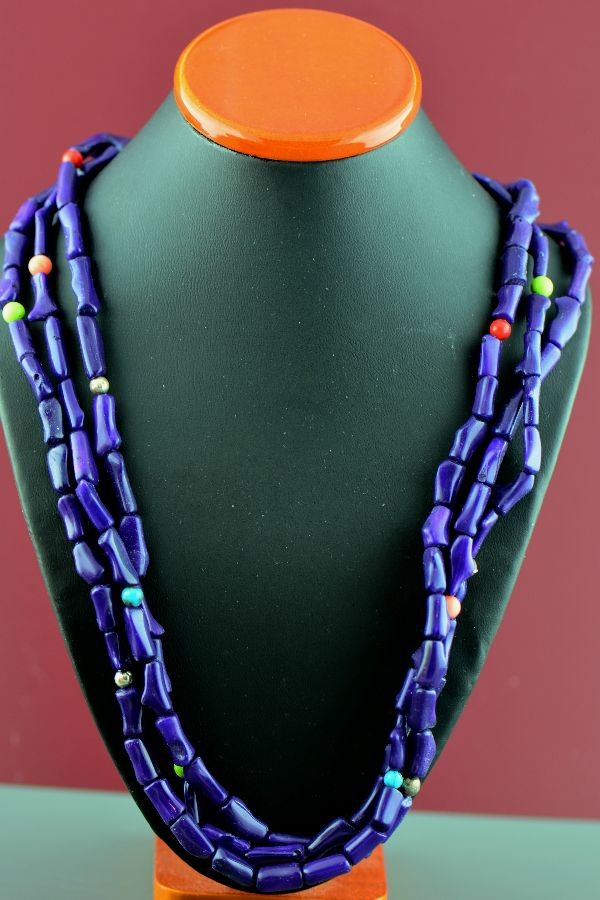 Donna Chee Dyed Purple Coral Necklace