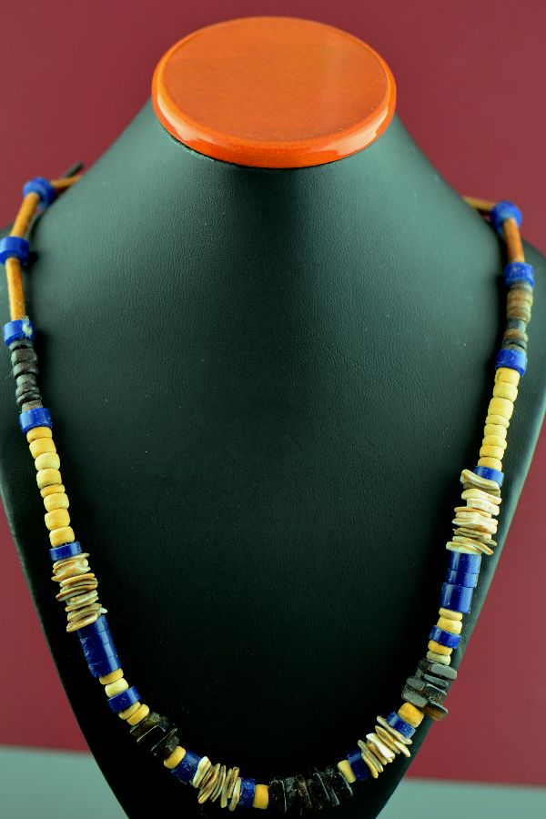 Navajo – 3 Strand Dyed Purple Coral Necklace with Turquoise, Coral, Gaspiete and Sterling Silver Beads by Donna Chee