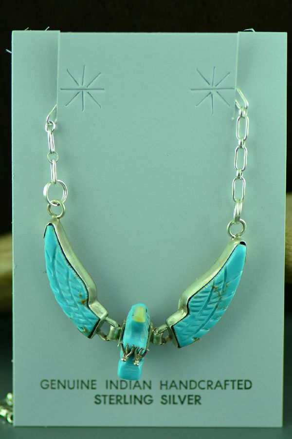 Native American Turquoise Eagle Necklace
