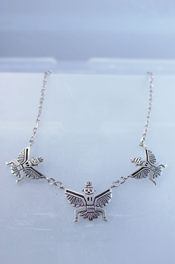 Navajo – Sterling Silver Knife Wing Necklace by Tommy Singer
